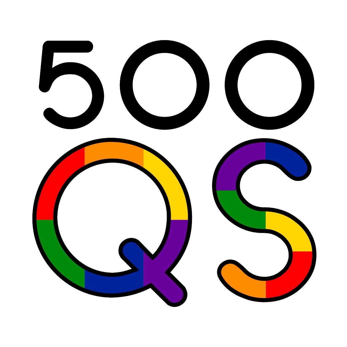 500 Queer Scientists Logo
