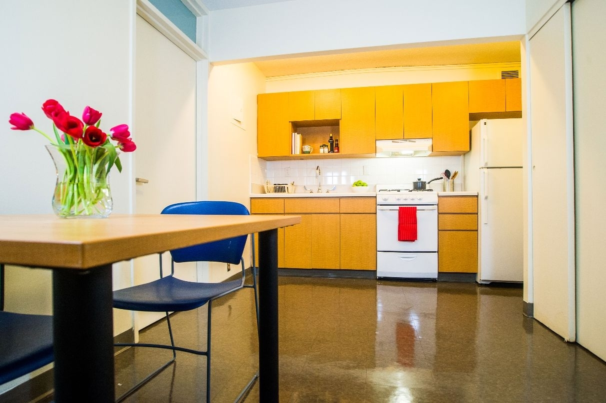 Kitchen in Lasdon House Apartment
