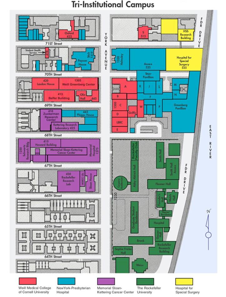 Map of Tri-Institutional Campus